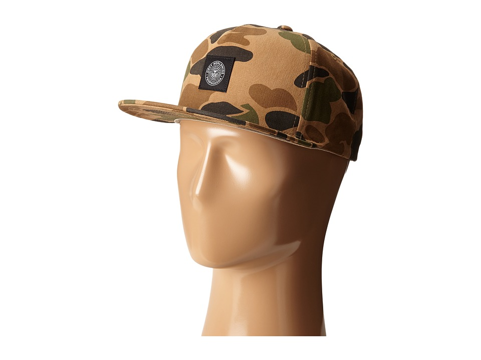 Obey - Downtown Snapback Hat (Bubble Camo) Baseball Caps