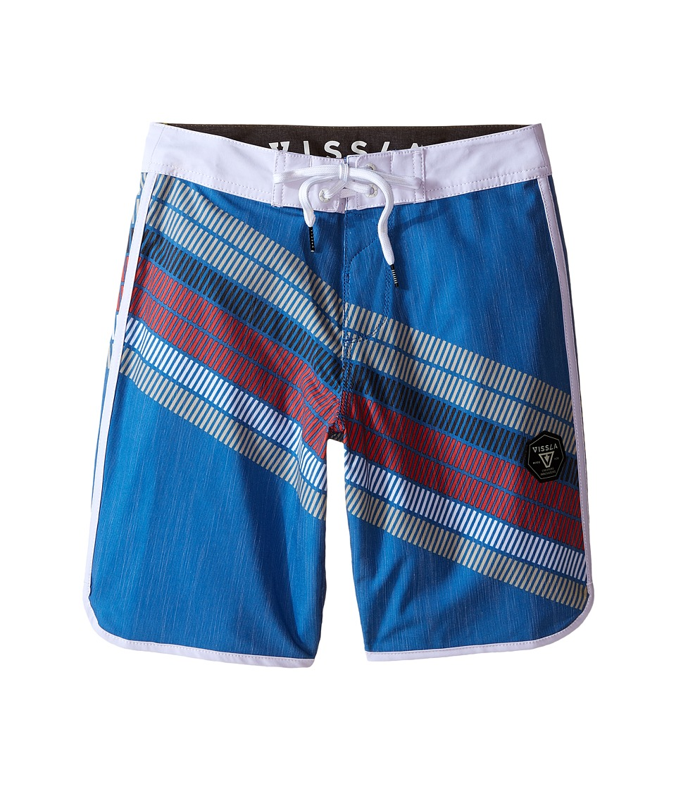 VISSLA Kids - Drain Pipes 4-Way Stretch Boardshorts 17 (Big Kids) (Royal) Boy's Swimwear