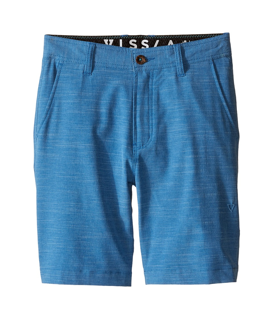 VISSLA Kids - Fin Rope 4-Way Stretch Hybrid Walkshorts 17.5 (Big Kids) (Blue) Boy's Shorts