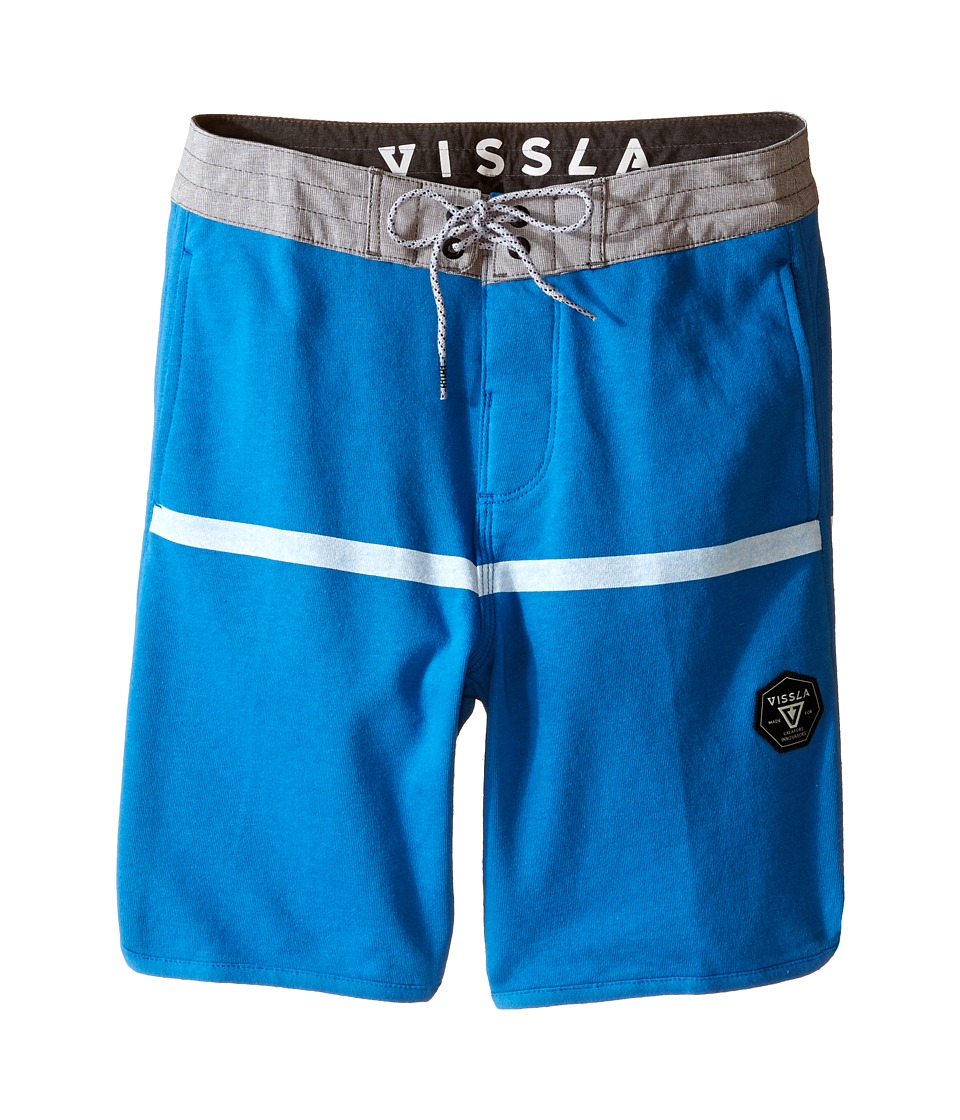 VISSLA Kids - Sofa Surfer Chase Athletic Fleece Shorts 17 (Big Kids) (Royal Wash) Boy's Shorts