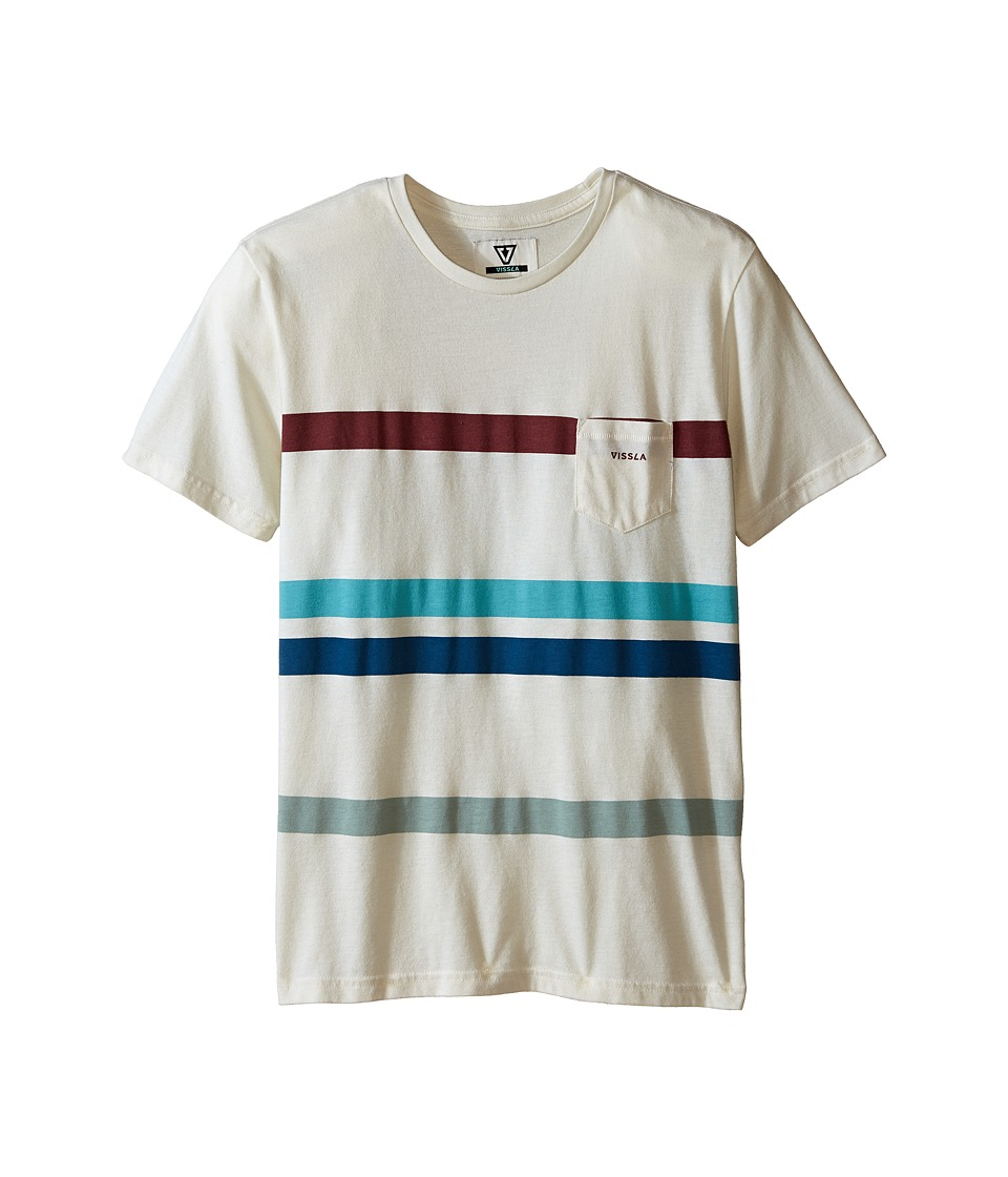 VISSLA Kids - Mind Surf Heathered Short Sleeve Crew (Big Kids) (Bone Heather) Boy's Short Sleeve Pullover