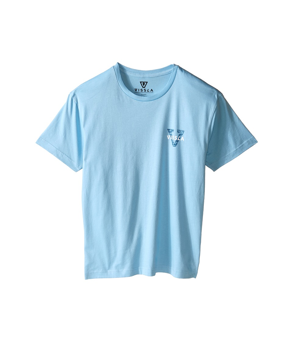 VISSLA Kids - Reverse Tee (Big Kids) (Coastal Blue) Boy's T Shirt