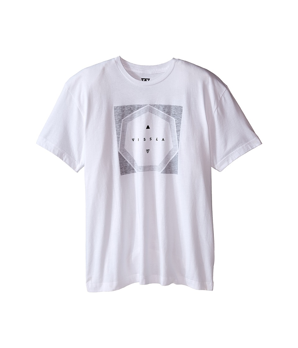 VISSLA Kids - Tricky Heathered Tee (Big Kids) (White) Boy's T Shirt