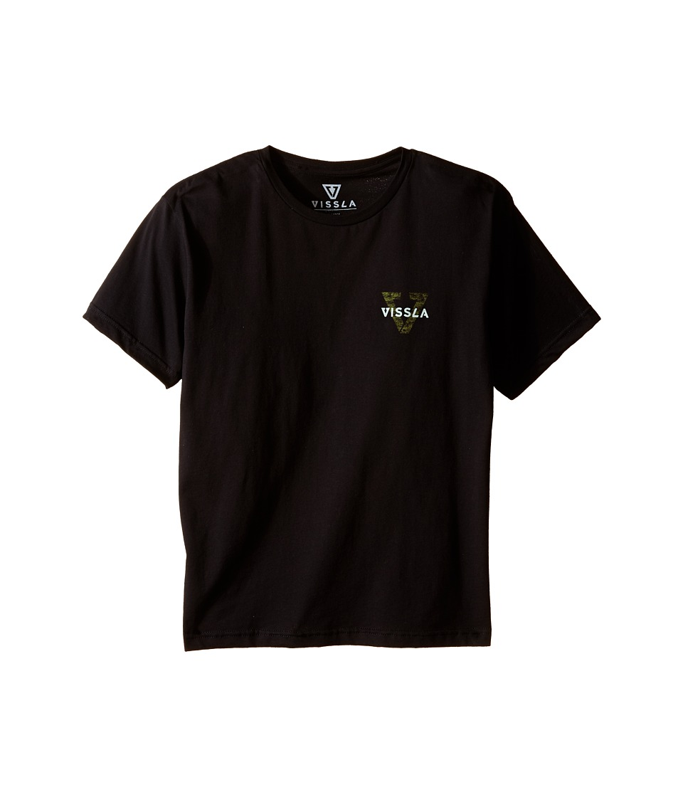 VISSLA Kids - Reverse Tee (Big Kids) (Black) Boy's T Shirt