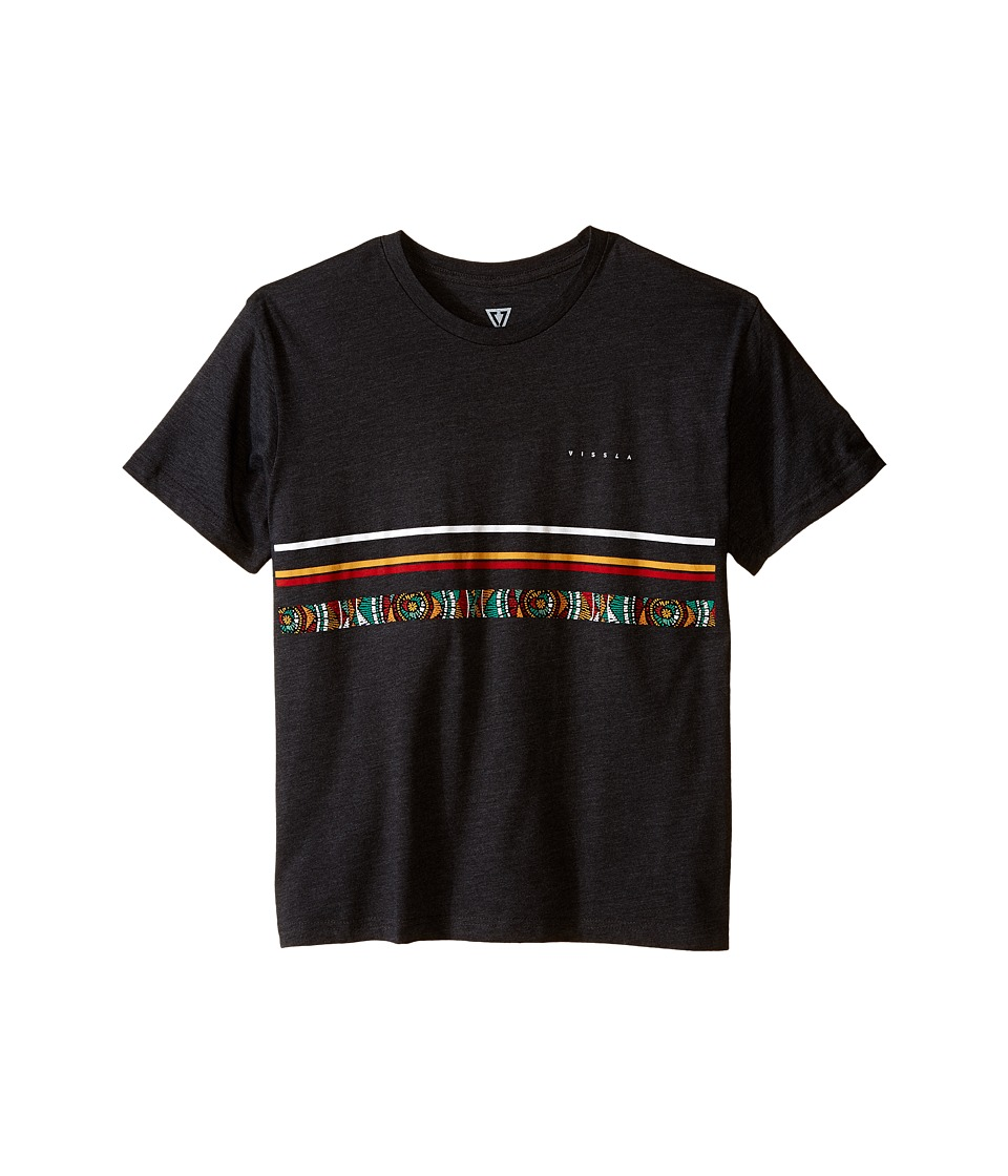 VISSLA Kids - Coffin Coast Heathered Tee (Big Kids) (Black Heather) Boy's T Shirt