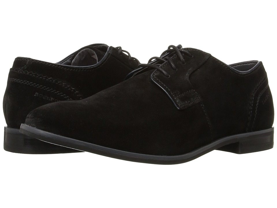 Rockport - Birch Lake Plain Toe (Black Suede) Men's Shoes