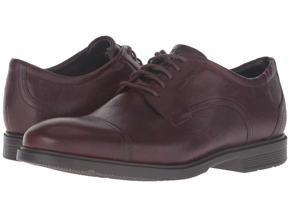 Rockport - City Smart Cap Toe (Dark Brown Leather) Men's Shoes