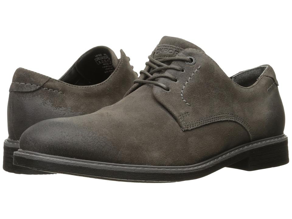 Rockport - Classic Break Plain Toe (Grey Suede) Men's Shoes