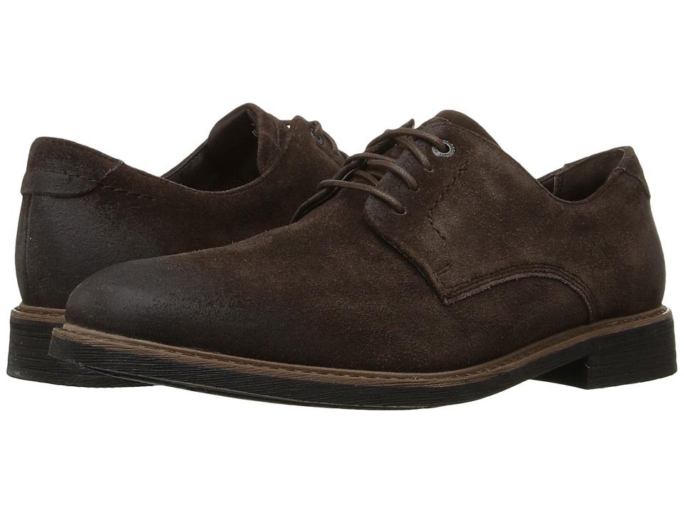 Rockport Classic Break Plain Toe (Dark Bitter Chocolate Suede) Men