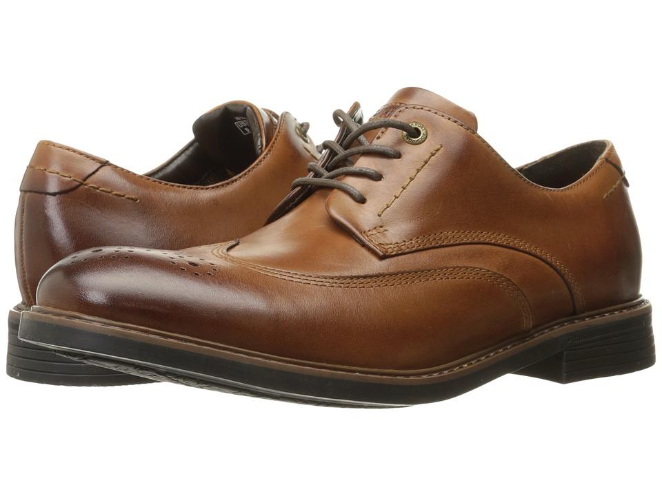 Rockport Classic Break Wingtip (Dark Brown Leather) Men