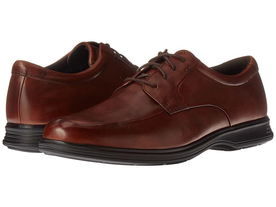 Rockport Dressports 2+ Light Apron Toe (New Brown Leather) Men