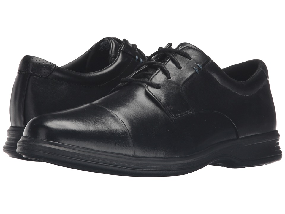 Rockport Dressports 2+ Light Cap Toe (Black Leather) Men
