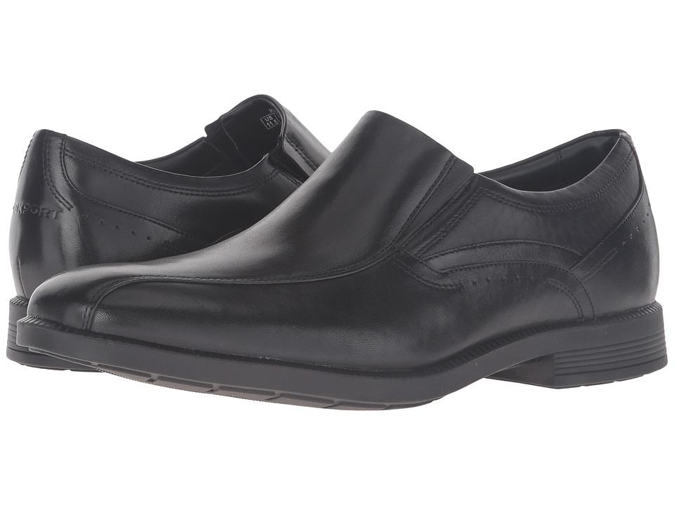 Rockport Dressports Business Bike Toe Slip-On (Black Leather) Men