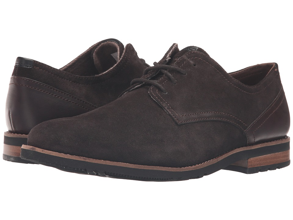 Rockport - Ledge Hill 2 Plain Toe Oxford (Dark Bitter Chocolate) Men's Lace up casual Shoes
