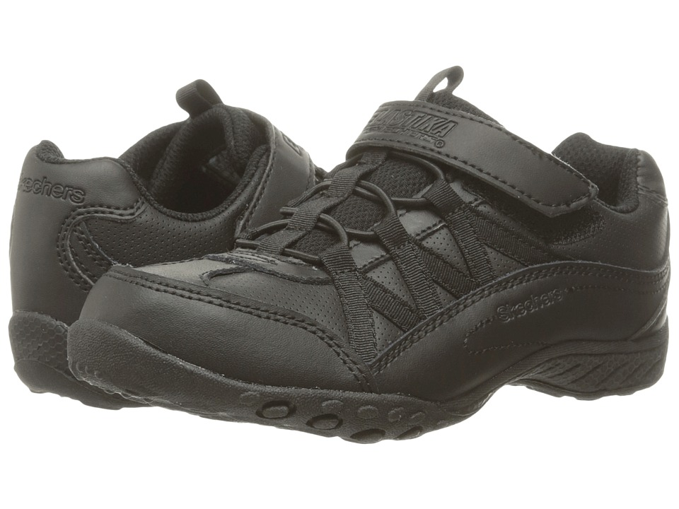 SKECHERS KIDS - Breathe Easy (Little Kid/Big Kid) (Black) Girl's Shoes