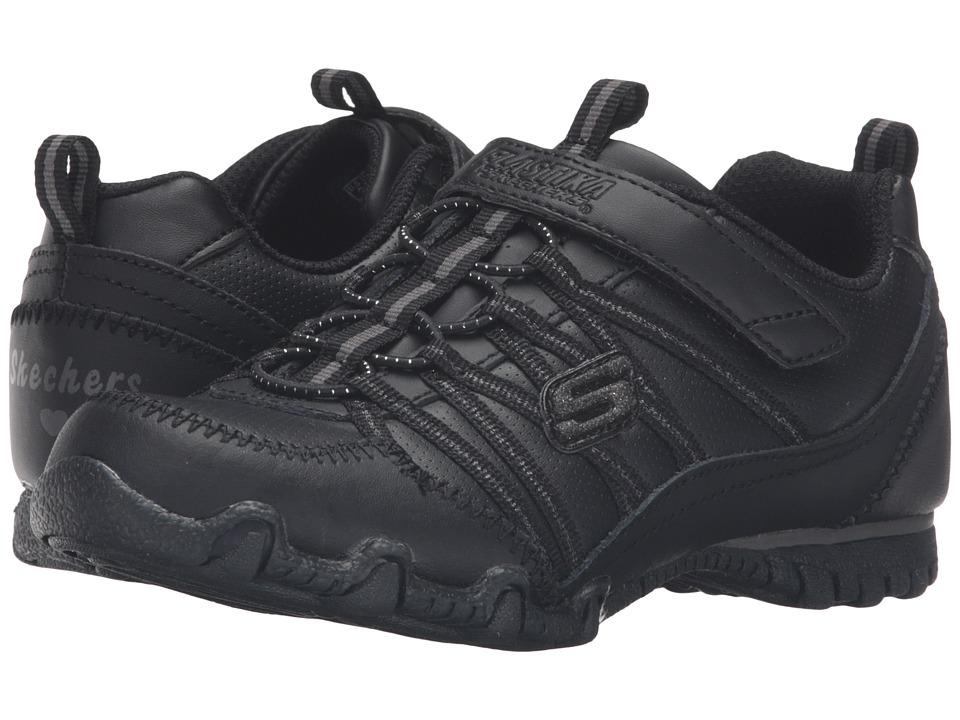 SKECHERS KIDS - Biker II (Little Kid/Big Kid) (Black) Girl's Shoes