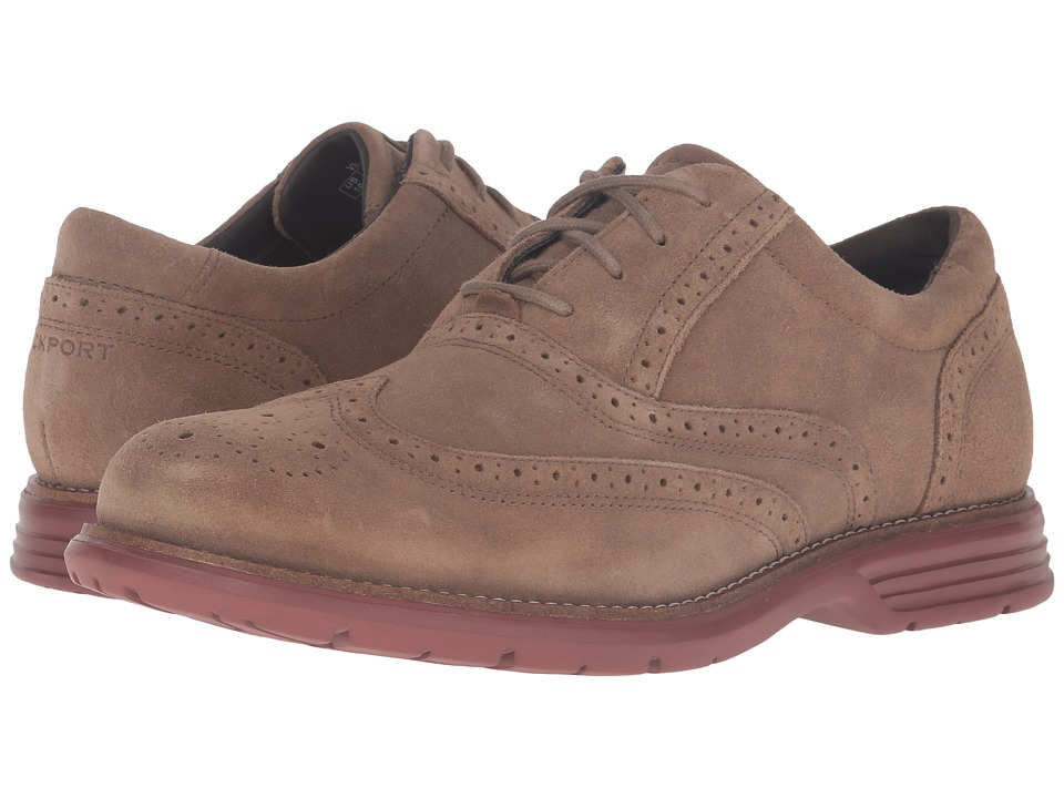 Rockport - Total Motion Fusion Wing Tip (New Vicuna) Men's Lace Up Wing Tip Shoes