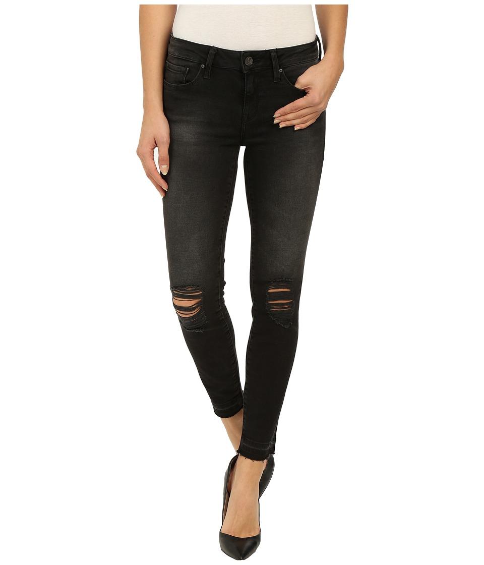 Mavi Jeans - Adriana in Black Destructed Tribeca (Black Destructed Tribeca) Women's Jeans