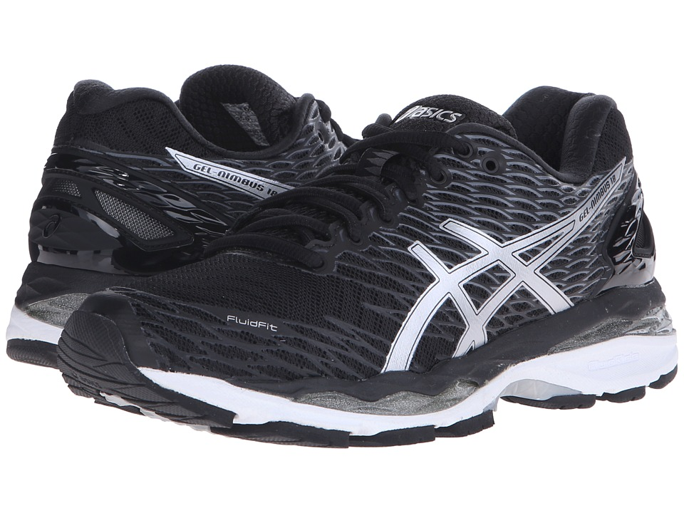 ASICS - Gel-Nimbus 18 (Black/Silver/Carbon) Women's Running Shoes