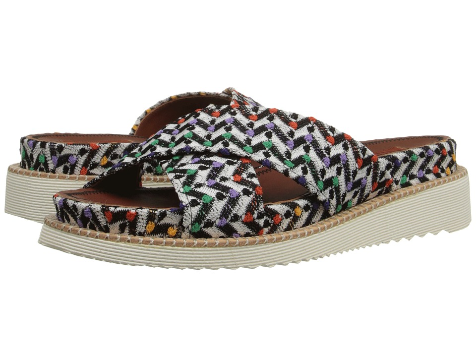 Missoni - Raschel Flat Slide (Turquoise) Women's Flat Shoes
