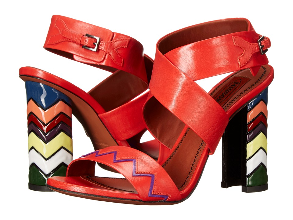 Missoni - Ankle Strap Kid Sandal (Red) Women's Sandals