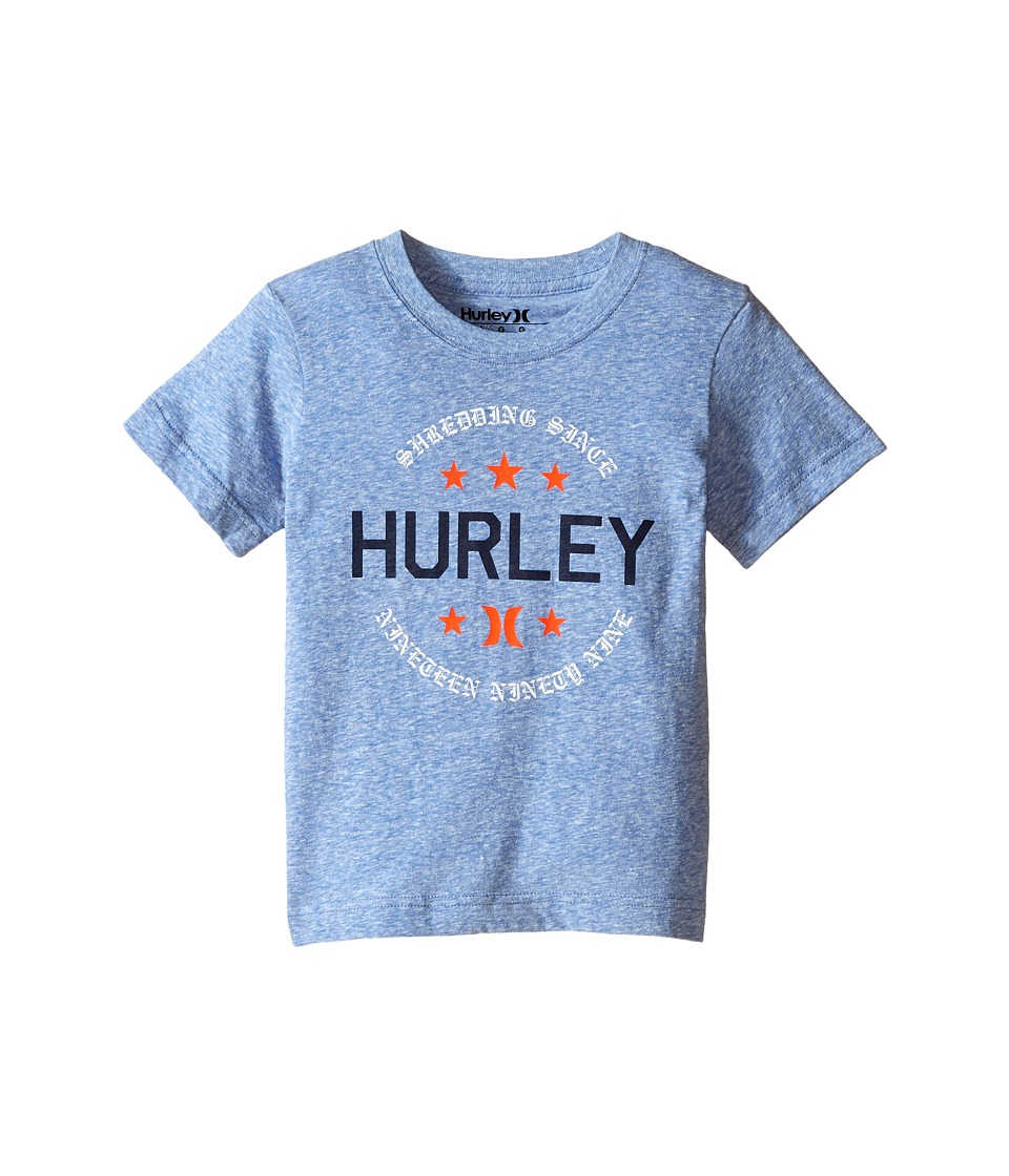 Hurley Kids - Simple Man Tee (Little Kids) (Royal Snow Heather) Boy's T Shirt