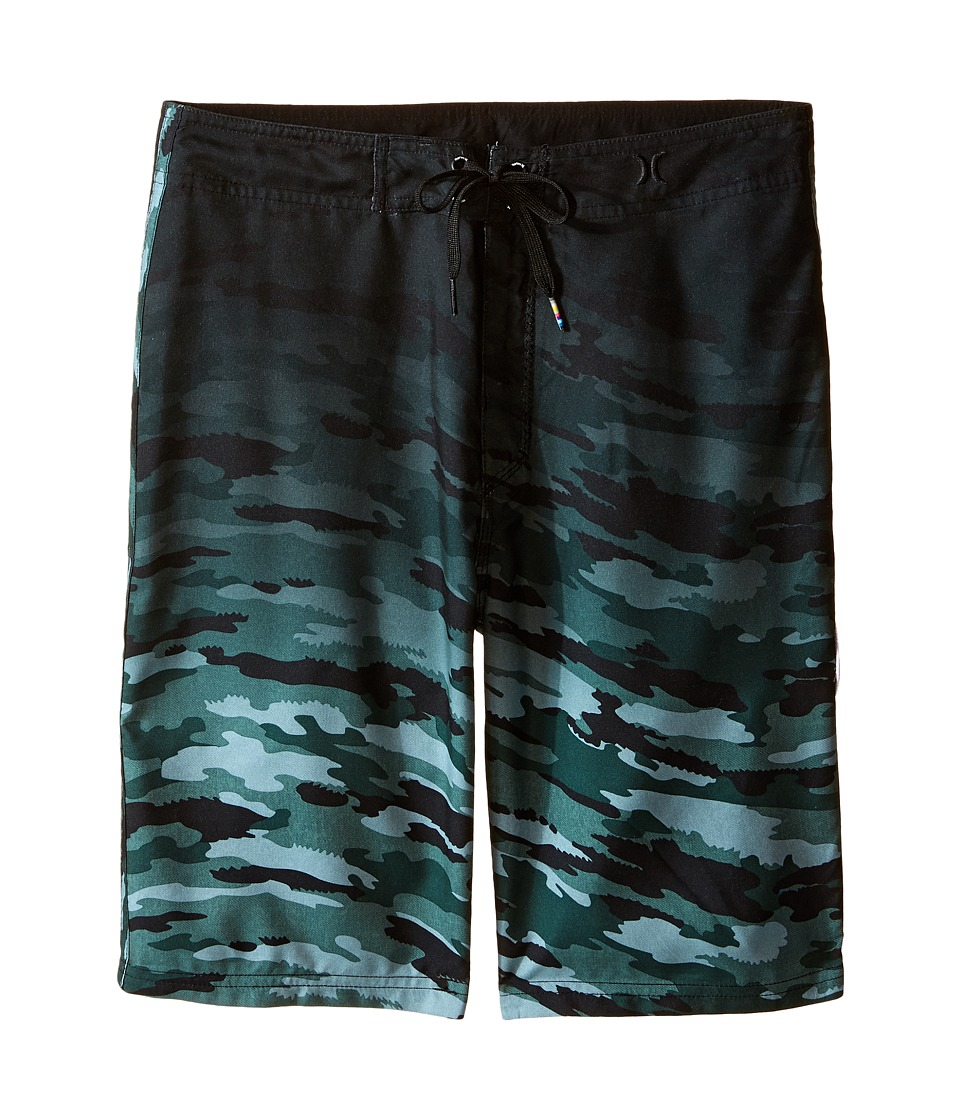 Hurley Kids - JJF Flow Camo Boardshorts (Big Kids) (Green Camo) Boy's Swimwear