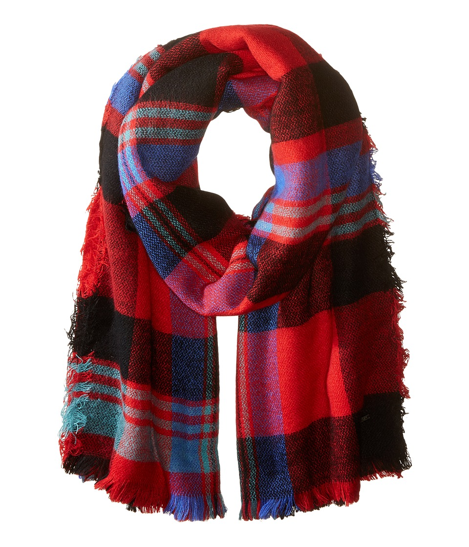 Roxy - Heaven Of Curiosity Scarf (Moon Plaid Combo Scarlet) Scarves