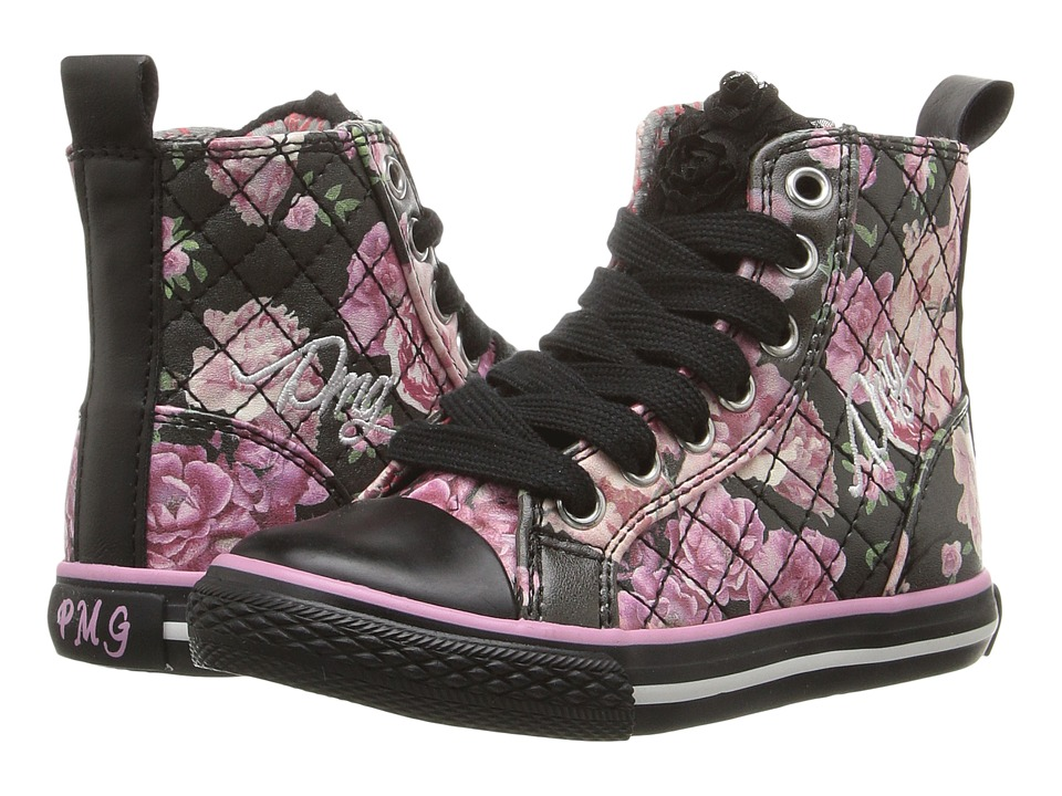 Primigi Kids - College G95 (Toddler/Little Kid/Big Kid) (Black/Fuchsia) Girls Shoes