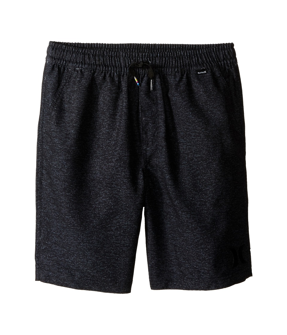 Hurley Kids - One and Only Volley Boardshorts (Big Kids) (Black) Boy's Swimwear