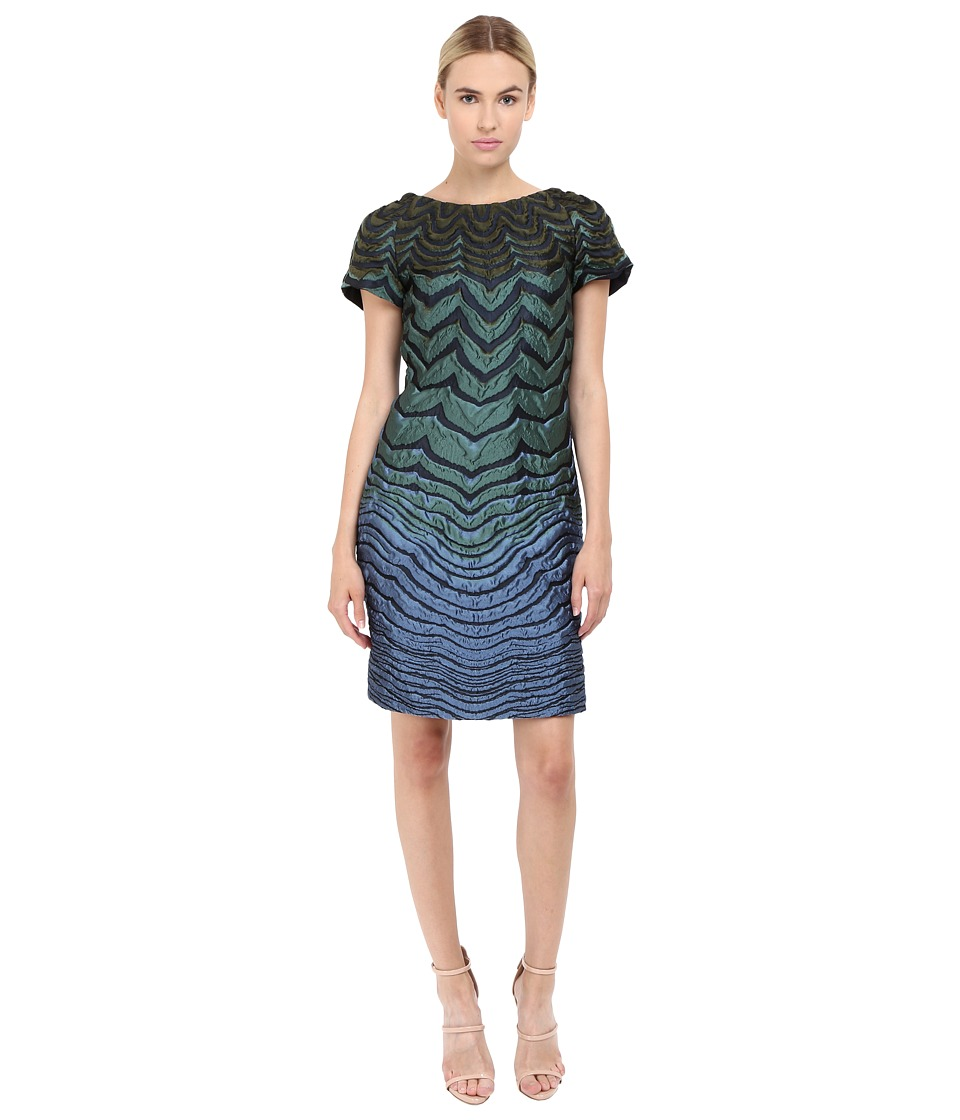 Alberta Ferretti Short Sleeve Zigzag Dress
