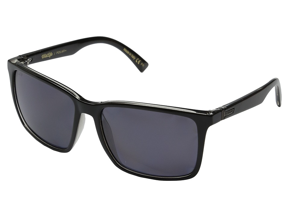 VonZipper - Lesmore Polarized (Black Crystal/Wildlife + Vintage Grey Polar) Sport Sunglasses