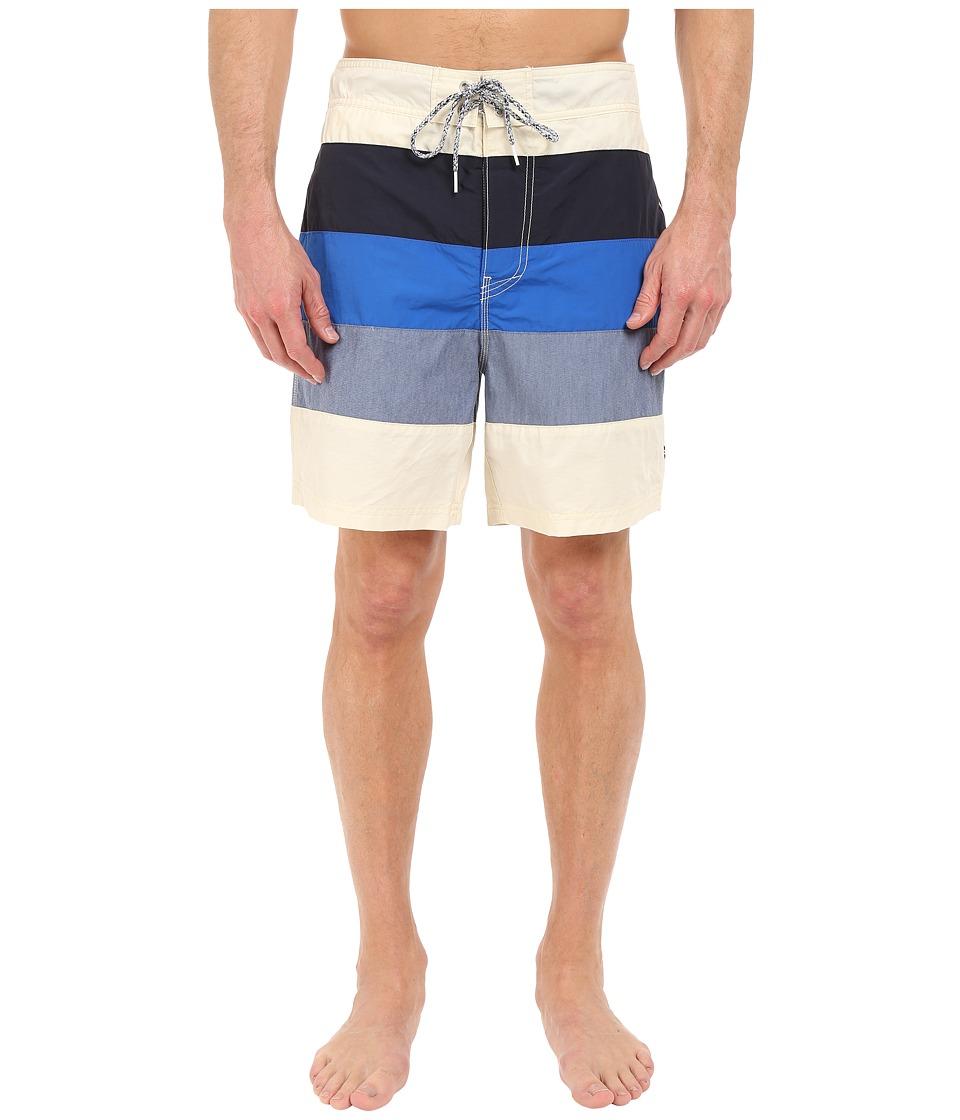 Nautica - Mix Color Block Trunk (Sailcream) Men's Swimwear