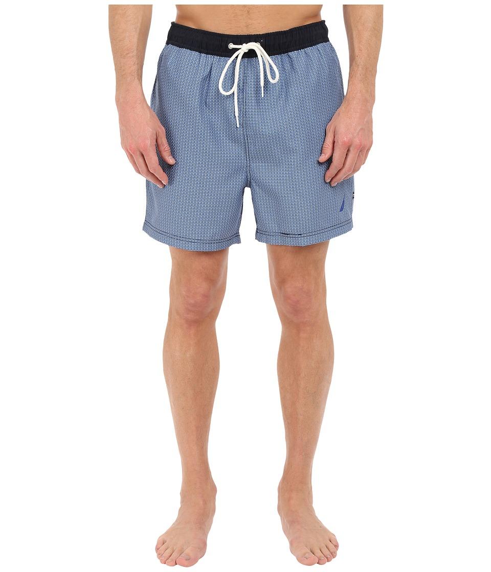 Nautica - Micro Geo Print Trunk (Sea Cobalt) Men's Swimwear