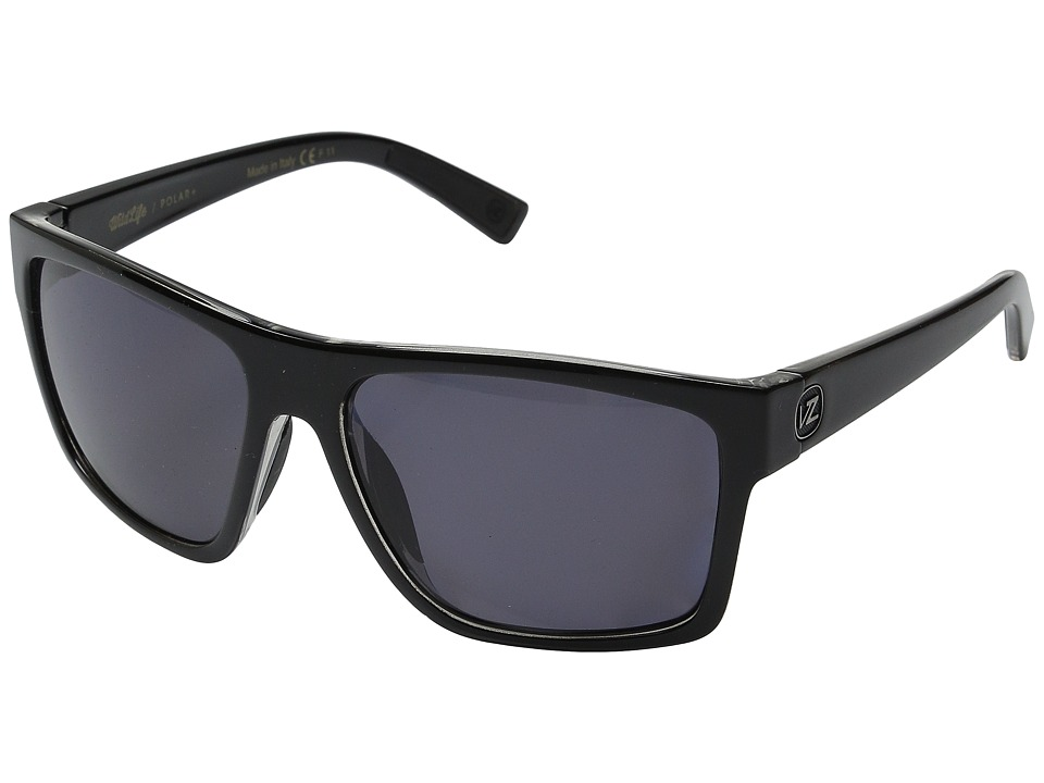 VonZipper - Dipstick Polarized (Black Crystal/Wildlife Vintage Grey Polar) Sport Sunglasses
