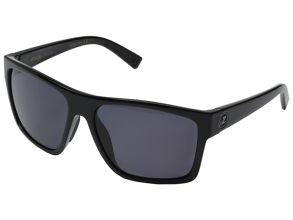 VonZipper - Dipstick Polarized (Black Gloss/Vintage Grey Wildlife Polar) Sport Sunglasses