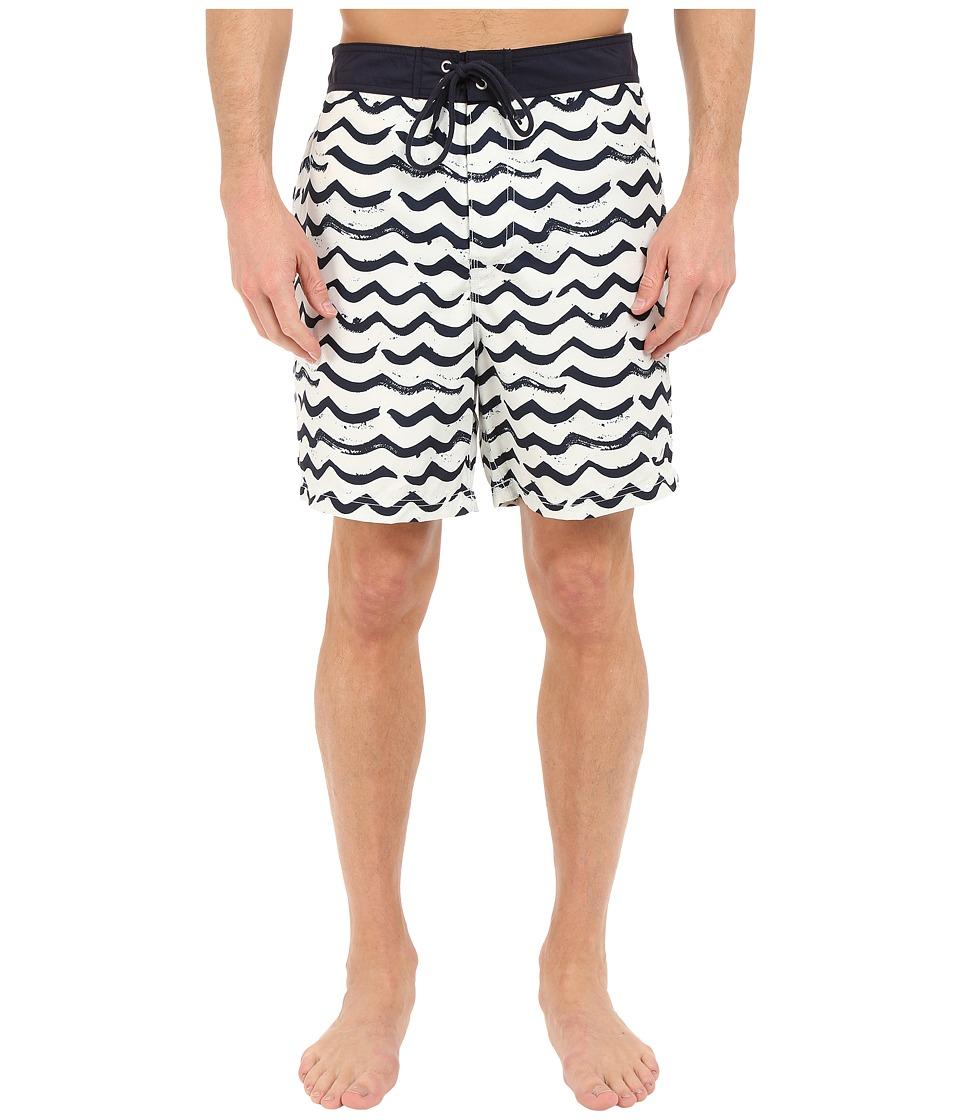 Nautica - Brushed Waves Trunk (Bright White) Men's Swimwear
