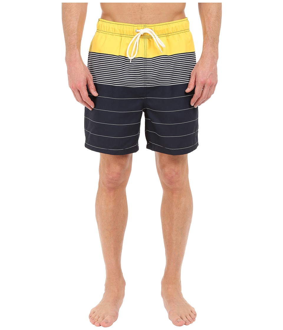 Nautica - Engineered Stripe Trunk (Marigold) Men's Swimwear