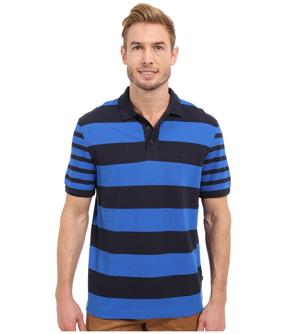 Nautica - Short Sleeve Bold Multi Stripe (Sea Cobalt) Men's Clothing