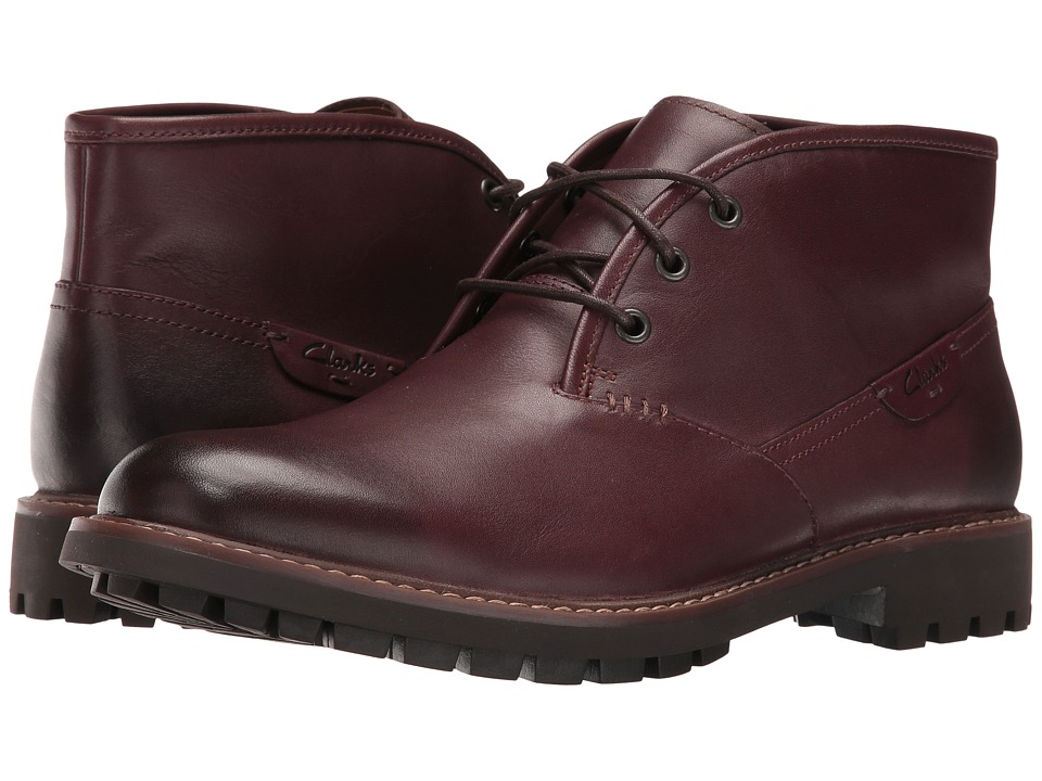 Clarks - Montacute Duke (Chestnut Leather) Men's Lace-up Boots