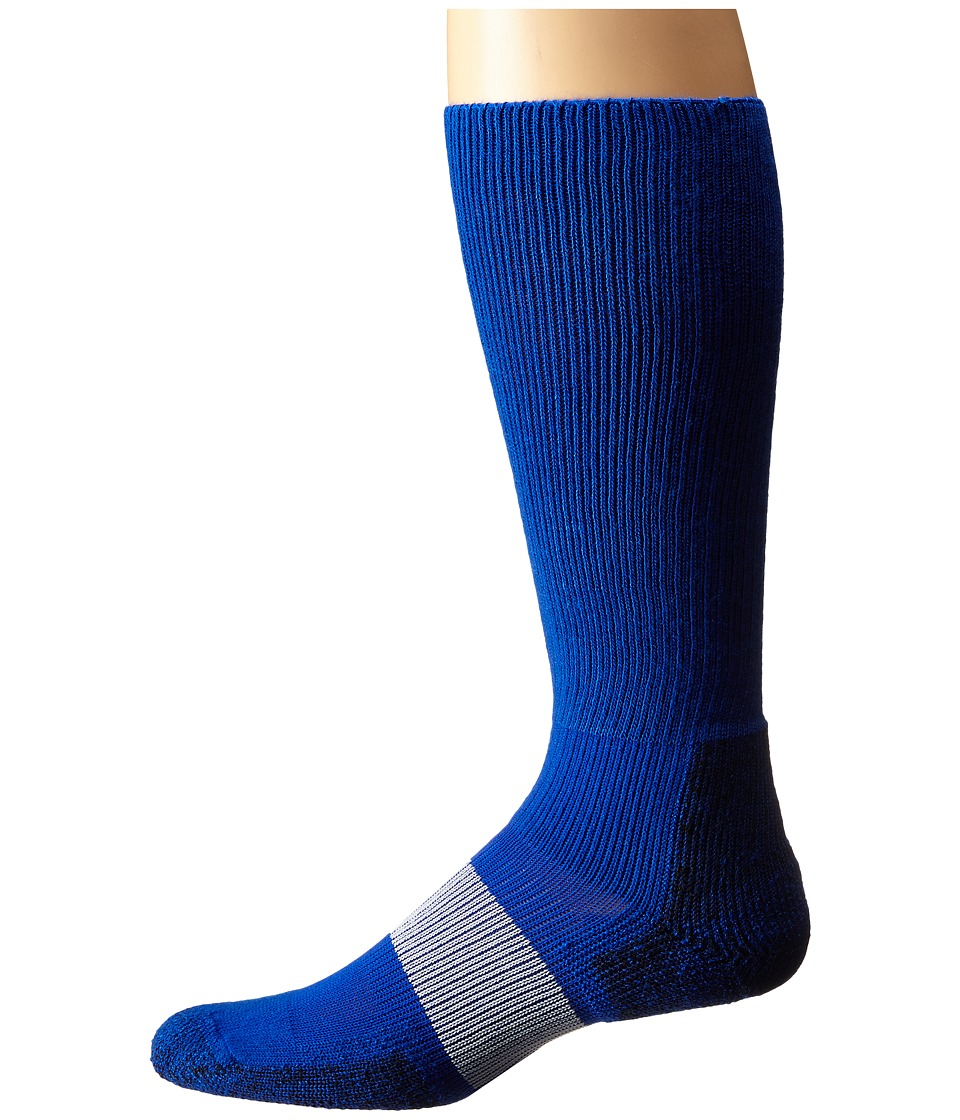 Thorlos - Cleated Sports Over Calf Single Pair (Varsity Royal 1) Crew Cut Socks Shoes