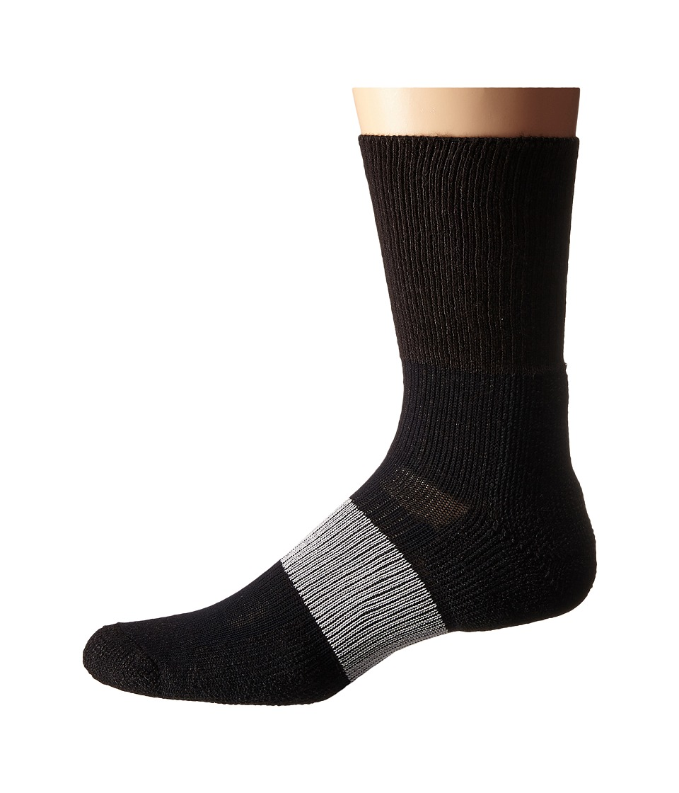 Thorlos - Cleated Crew 1-Pack Pair (Varsity Black 1) Crew Cut Socks Shoes