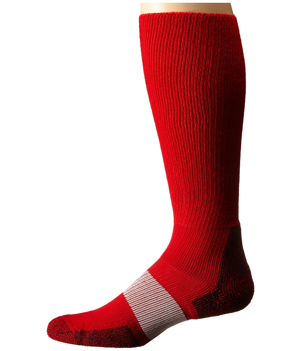 Thorlos - Cleated Sports Over Calf Single Pair (Varsity Red 1) Crew Cut Socks Shoes