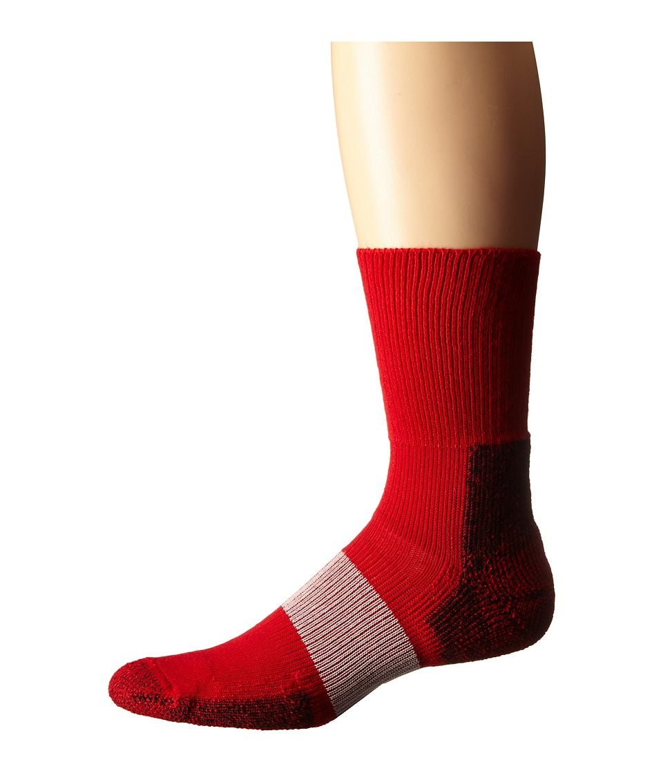 Thorlos - Cleated Crew 1-Pack Pair (Varsity Red) Crew Cut Socks Shoes