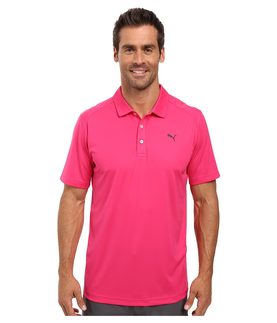 PUMA Golf - ESS Pounce Polo (Beetroot Purple) Men's Clothing