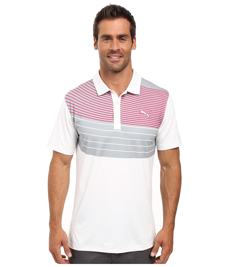 PUMA Golf - GT Swoop Polo (Bright White) Men's Clothing