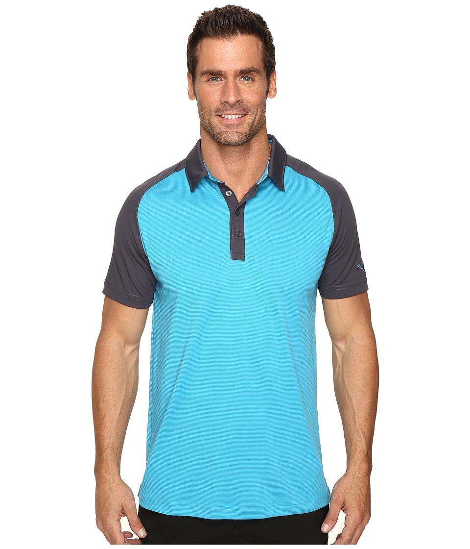 PUMA Golf - Short Sleeve Tailored Saddle Polo (Hawaiian Ocean) Men's Short Sleeve Pullover