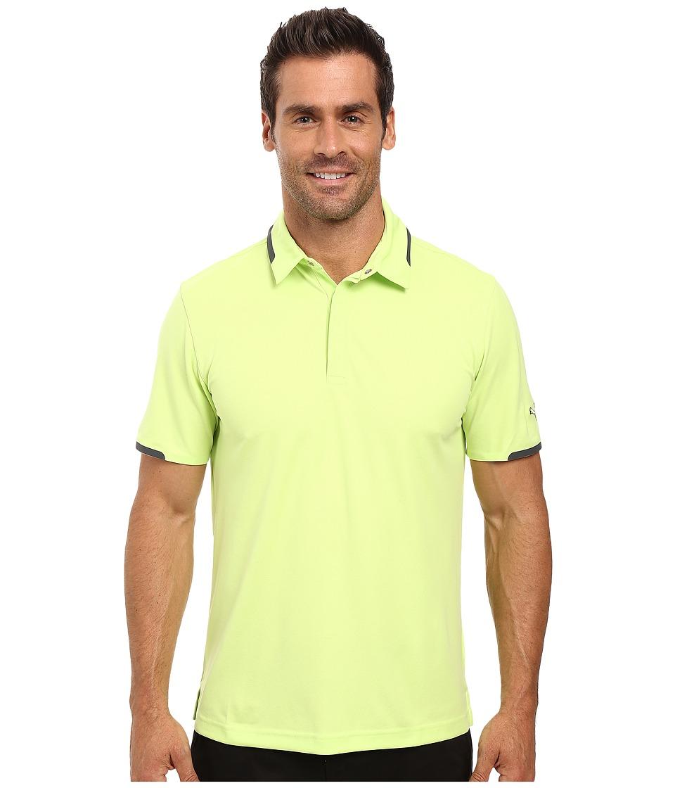 PUMA Golf - Short Sleeve Tailored Snap Polo (Sharp Green) Men's Short Sleeve Pullover