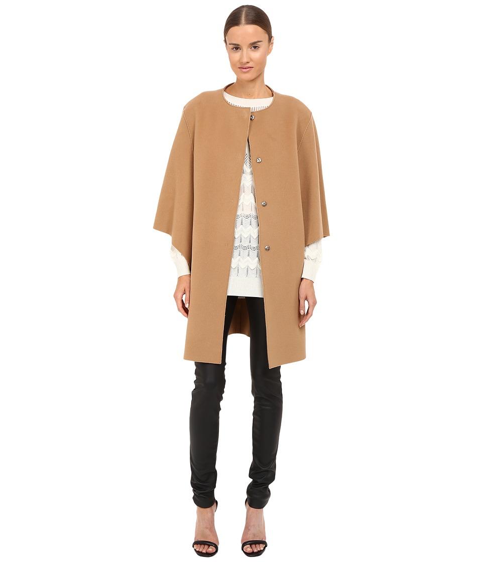 Alberta Ferretti - Dolman Sleeve Open Front Jacket (Camel) Women's Coat