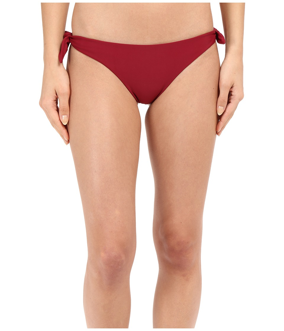 MIKOH SWIMWEAR - Valencia Tie Bottom (Pomegranate) Women's Swimwear